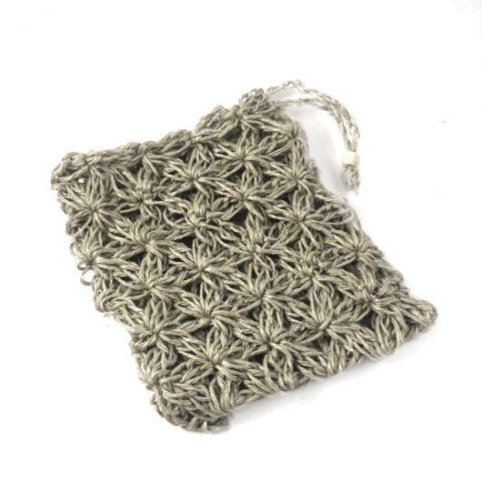 eco-friendly handmade linen soap bag